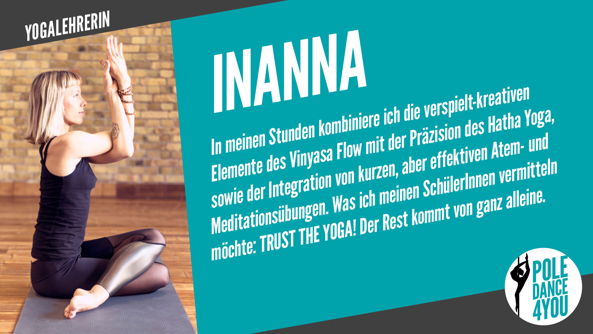Yogalehrerin Inanna - www.poledance4you.de